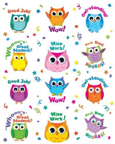 Carson Dellosa Colorful Owl Motivators Motivational Stickers (168144)