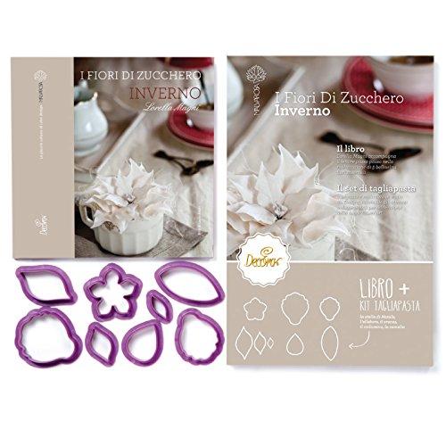 Decora 0803047 Libro Estate con Kit 8 Tagliapasta, Plastica, Viola