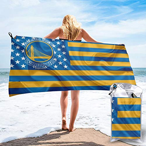 Rico Golden State Warriors Fast Drying Towels Beach Towel Bath Towel Best for Outdoor Camping, Hiking,Beach, Travel, Gym,Home