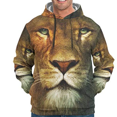 Dofeely Tiger Lion Animal print unisex heren hoodie sweatshirts lange mouwen comfortabele trui lange mouwen met zakken trekkoord S-5XL beste cadeau voor kinderen