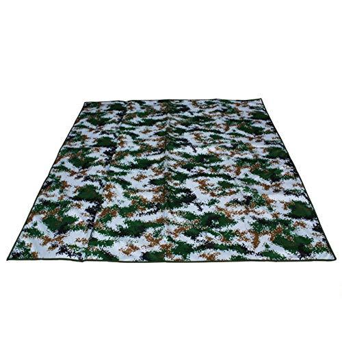 NHYTG Picnic Blanket Tent Camping Mat Outdoor Ground Blanket Picnic Mat Portable Mat Ultra-Thin Folding Camouflage 200X100Cm 6Hd