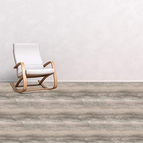 euroharry Vinylboden 3,5mm Klick Fußboden PVC Laminat Dielen in Rustikaler Holzoptik Bodenbelag Klicksystem Rutschhemmend(V14 Eiche Hellbraun, 10Pkt. á 2,5m² = 24,99m²)