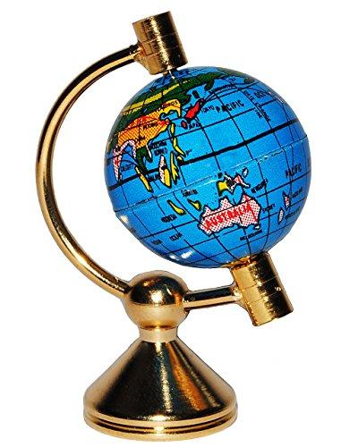 alles-meine.de GmbH 1 Stück _ Globus / Weltkugel - drehbar - Miniatur / Maßstab 1:12 - Zubehör - Puppenstube / Puppenhaus - Reisen Länder Welt / Erde - Diorama - Wohnzimmer - Län..