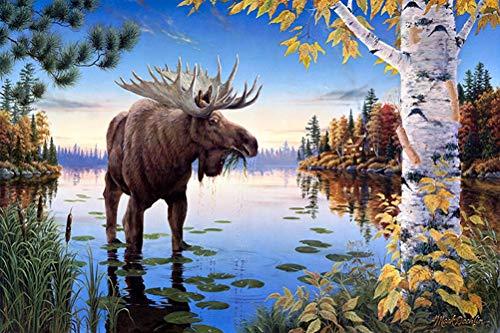 WLH- Volwassenen dier paradijs puzzel nieuwe collectie Puzzel 1000 stukjes bos dier Houten educatief speelgoed Decor (Color : C)