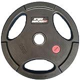 Grupo Contact Discos Goma/Caucho de 1,25 kg, diámetro Interior 50 mm. Profesional, con Agarre para Mejor Transporte