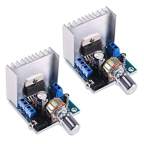 KYYKA - Modulo Amplificatore digitale, 15 W + 15 W TDA7297, 30 W Audio Power 12 V DC Mini Stereo Amp Amp Amp Power Stereo Compatibile con DIY Amplify System