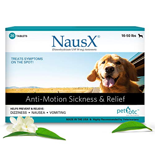 Nausx (16-50lbs Anti Nausea/Motion Sickness Treatment and Preventative for Dogs