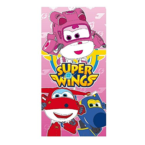GUIZMAX Compatible avec Drap de Plage Super Wings, Serviette 70 x 140 cm Rose
