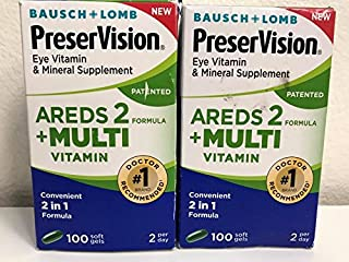 Bausch + Lomb PreserVision Eye Areds 2-100 Soft Gels [2 BOXES]