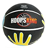 HoopsKing Skill Shooter Basketball, Basketball with Hands On It, (Youth 27.5')