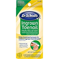 Relieves ingrown toenail pain at home Only treatment proven to relieve ingrown toenail pain among OTC Most advanced treatment for ingrown toenail Medicated gel softens nail for easy trimming Foam ring and bandage cushion and protect affected area