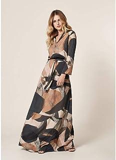 Vestido Longo Estampa Geométrico Abstrato