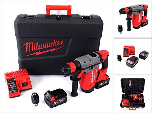 Milwaukee M18 CHPX-502C FUEL Brushless Akku Bohrhammer mit 2 x 5 Ah Akku, Lader, Koffer