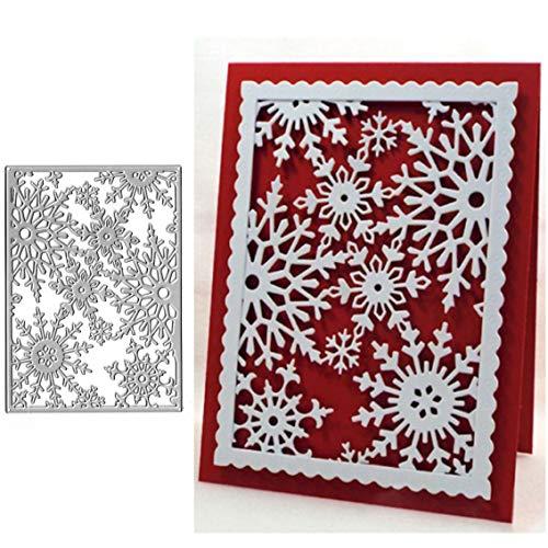 Weihnachts-Schneeflocken-Metall-Stanzschablonen für Bastelarbeiten, Scrapbooking, Album, dekorative Prägung, Papierschablonen für Kartenherstellung