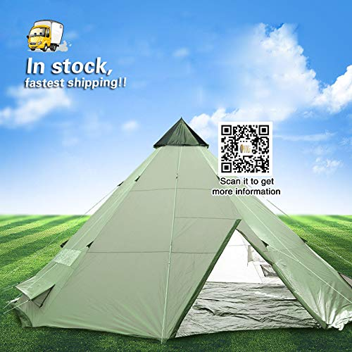 vidalido Tent Outdoor 8/10/12 people Oversized Camping Camping Equipment Waterproof Teepee Tent