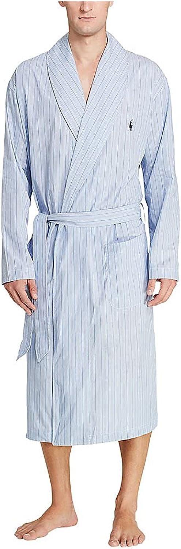 Import Polo Ralph Lauren Men's Birdseye Time sale Robe R171 100% Woven Cotton