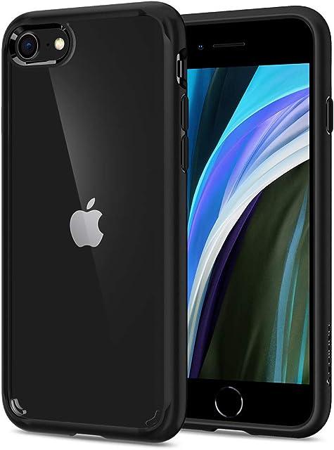 Spigen Funda Ultra Hybrid Compatible con Apple iPhone SE 2020/ iPhone 8/iPhone 7 Protección híbrida de la caída - Negro