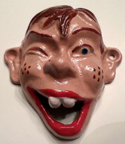 Vintage Cast Iron Wall Mount Beer Soda Pop Howdie Doody Marionette Bottle Opener