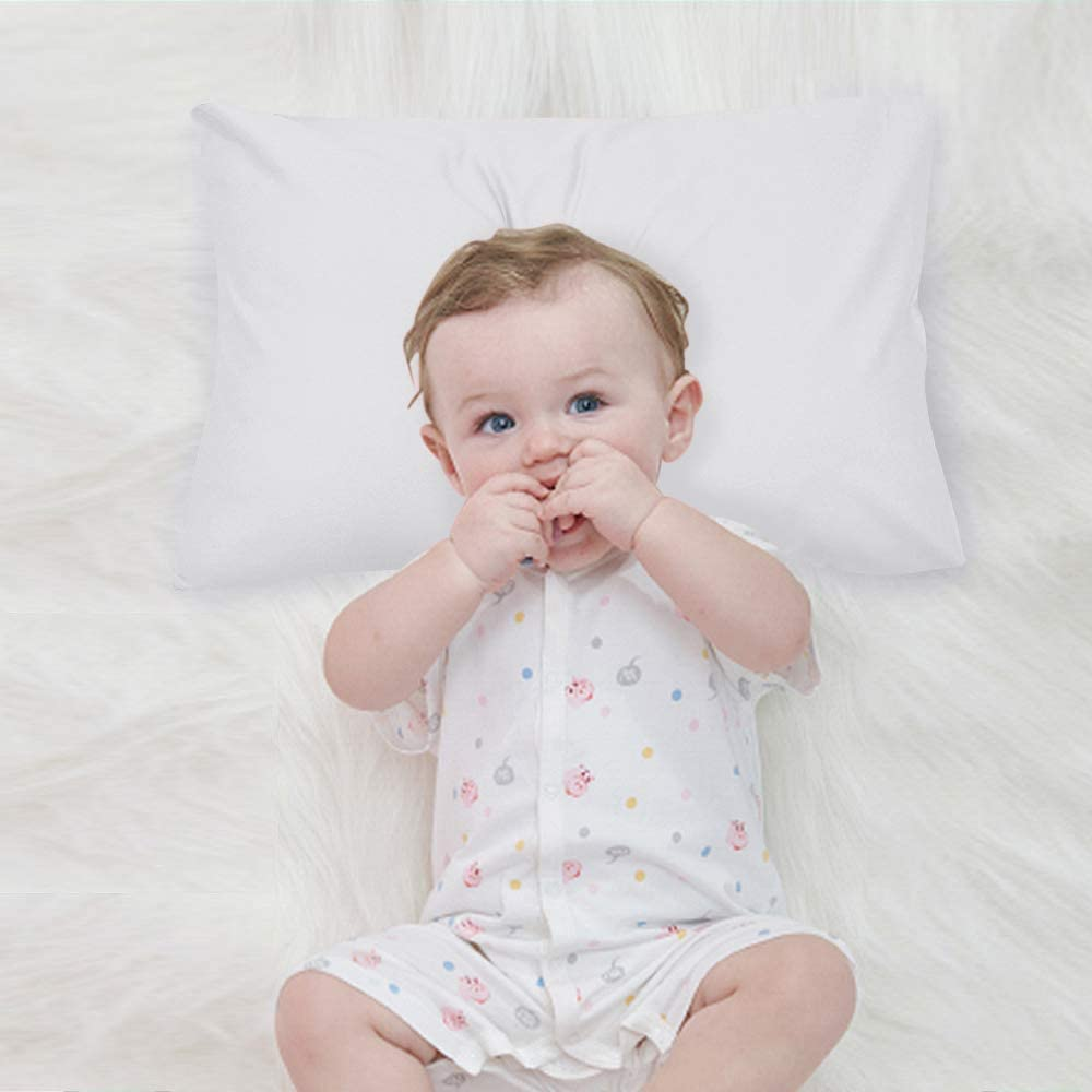 Blue Soft and Breathable Travel Pillowcase 14x20 Inches Pack of Two Cotton Toddler Pillowcase with Envelope Closure