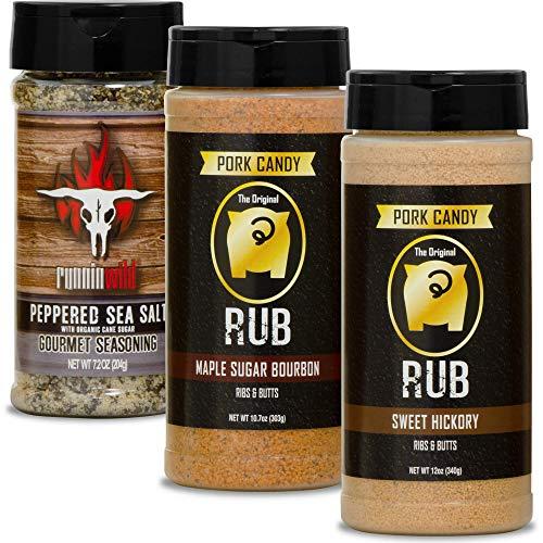 Split Rib/Pork Butt Seasoning Kit   Made in the USA   Premium Rubs for Pork and Beef   Runnin' Wild Foods