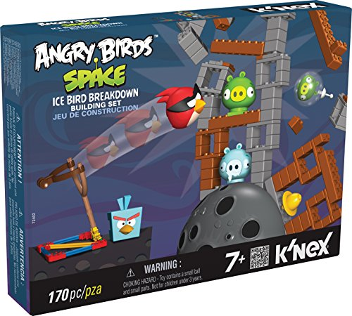 K'nex Angry Birds-Space Ice Bird Breakdown, Set de construcción, 170 Piezas (Fábrica de Juguetes 41005)