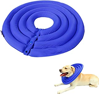 Tylu Blue Pet Collar Anti-bite and Anti-Licking Collar Soft Comfy Pet Protective Cover Recovery Collar After Surgery