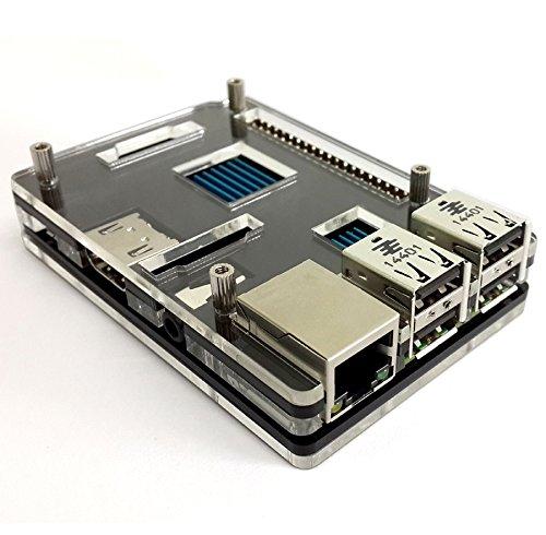 Raspberry Pi 2 Model B アクリル ケース ブラック ヒートシンク