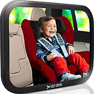 Shatterproof Baby Car Mirror Backseat View Infant in Rear Facing Car Seat Safety Crash Tested & Crystal Clear Easy to Install, 100% Lifetime Satisfaction Guarantee by COZY GREENS