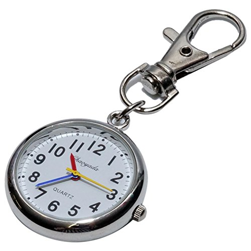 ナースウォッチ 時計 懐中時計 キーホルダー ナスカン シンプル リュック バッグ ポケット ランドセル PR-NASUKA-WATCH-casv