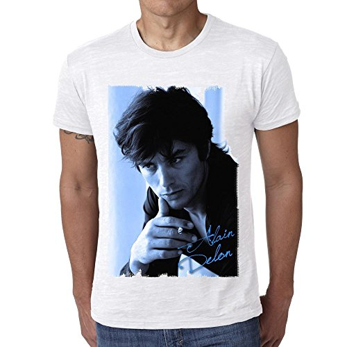 One in the City Alain Delon Blue: Men's T-Shirt Celebrity Star