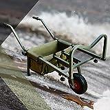RocwooD Fishing Barrow Trolley Cart 2 Pneumatic Wheel Folding With Bag Adjustable Legs