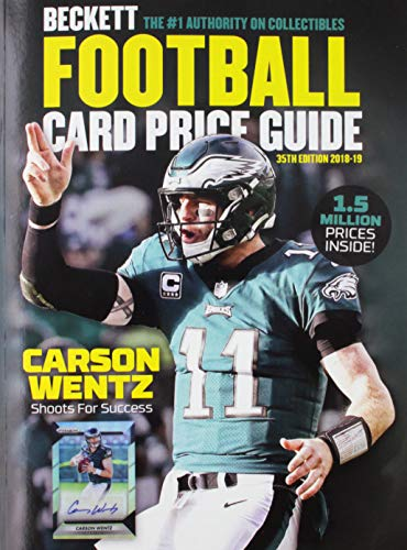 Compare Textbook Prices for Beckett Football Card Price Guide 2018 35 Edition ISBN 9781936681167 by Beckett Media