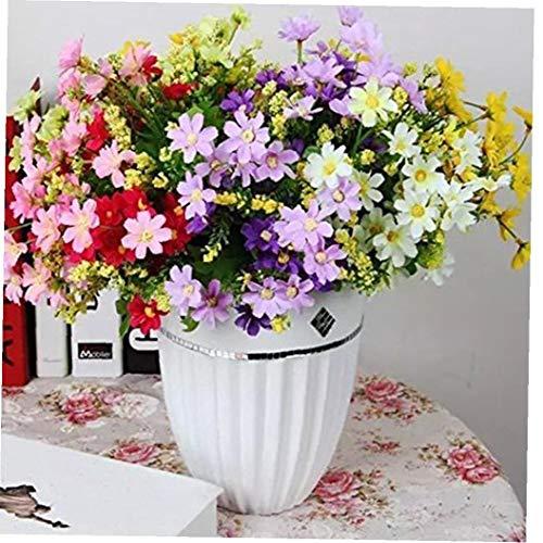 lujiaoshout Hermosa Artificial Ramo de la Margarita de la simulación de la Flor por Vivid DIY Crafts fotografía apoya la decoración del hogar Color al Azar 1PC
