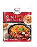 Jongga Korean Kimchi Fried Rice Kit with Rice, 2 Packs of Real Kimchi & Oyster Sauce, One-pan Cooking, 300g