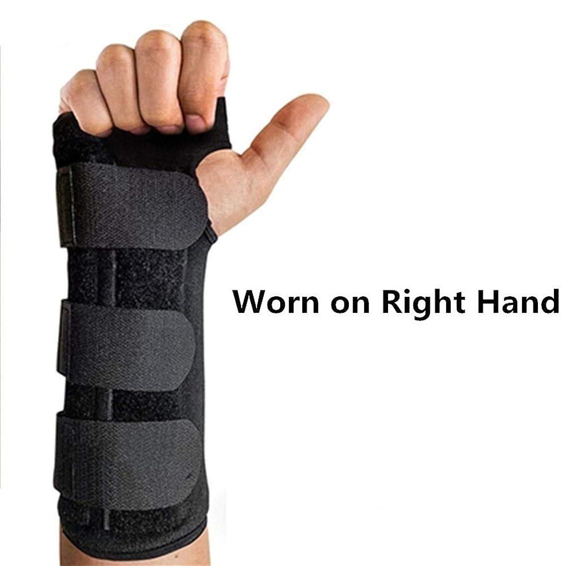 注ぎますに沿ってガチョウRZDJ 調節可能な手首のサポート手根管ブレースストラップ、左または右の手1 Pcと通気性耐久性に優れた指スプリントアーム手首プロテクター (Color : Worn on Right Hand)
