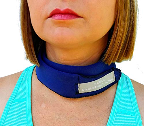 > Cool - Premium Ice Neck Wrap. Uses Everyday ICE to Keep You Cool. Great for Summer! (Navy, Regular)