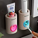 MaiTian Soporte de Montaje en Pared Auto Toothpaste Dispensador del baño Accesorios Set [ Energy Class A+, 2 Pcs]