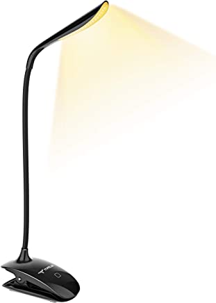 Lampada Libro 15 LED con Clip, Luce Libro con 3 Tipi Temperatura di Colore e Luminosità Dimmerabile, Lampada Libro USB Ricaricabile, Lampada da Lettura per Libro, Lavoro, Letto, 【Luce Fredda/Calda】