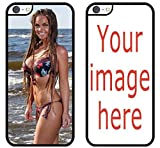 Custom Phone Cases Apple iPhone SE (2nd Generation 2020), iZERCASE [Personalized Custom Picture CASE] Make Your Own iPhone Case (Black)