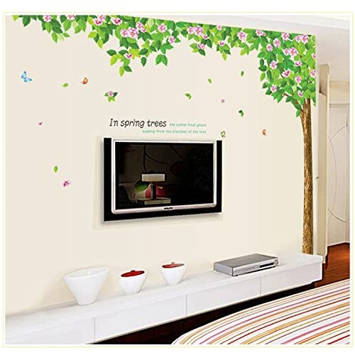 Oren Empower Floral Tree Wall Sticker (245 cm x 200 cm, Pack of 2)