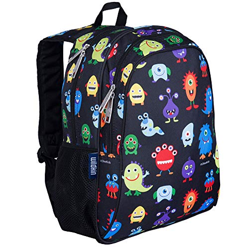 Wildkin 15 Inch Kids Backpack for Boys & Girls, 600-Denier Polyester Backpack for Kids, Features Padded Back & Adjustable Strap, Perfect Size for School & Travel Backpacks, BPA-free (Monsters)
