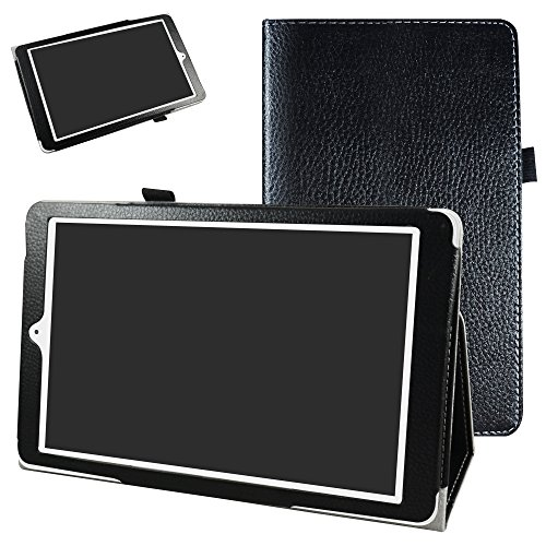 Mama Mouth Alcatel Onetouch PIXI 3 (10) Funda, Slim PU Cuero con Soporte Funda Caso Case para 10.1' Alcatel One Touch Pixi3 10 Android Tablet,Negro