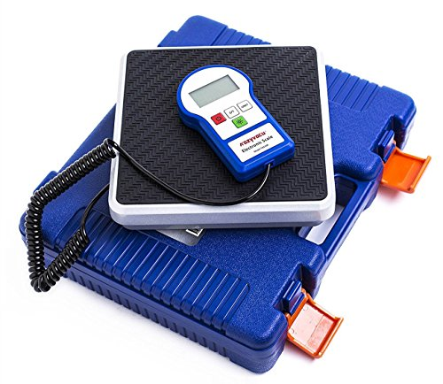 Kozyvacu 220lbs Digital Electronic Refrigerant Charging Weight Scales for HVAC/Auto AC Refrigerant Recovery Processing with Backlighting LCD Display, Free 9V Battery and a Portable Carrying Case