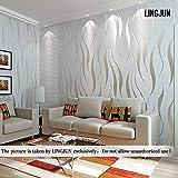 Stile semplice non tessuto carta da parati damascata,Camera da letto soggiorno TV sfondo 10m (4)