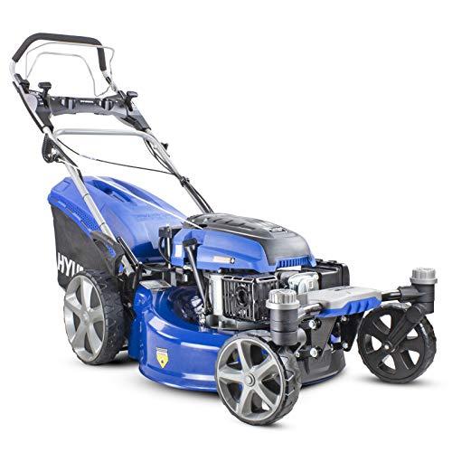Hyundai Self Propelled ZERO-TURN 360 degree 51cm Cut Petrol Lawnmower, Electric Start, 196cc Petrol Lawn Mower - Includes 600ml Engine Oil, HYM510SPEZ, Blue