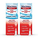 Mucinex Sinus-Max Nasal Spray Clear & Cool, 0.75 oz Packaging May Vary (Pack of 2)
