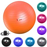 Xn8 Exercise <span class='highlight'>Gym</span> <span class='highlight'>Ball</span> 55-85cm Extra Thick Swiss <span class='highlight'>Ball</span> with Quick Pump Birthing <span class='highlight'>Ball</span> for Yoga-Pilates-Fitness-Physical Therapy-Pregnancy & Labour