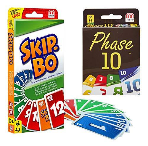 Mattel 52370 Skip-BO und Phase 10 Kartenspiele im Set