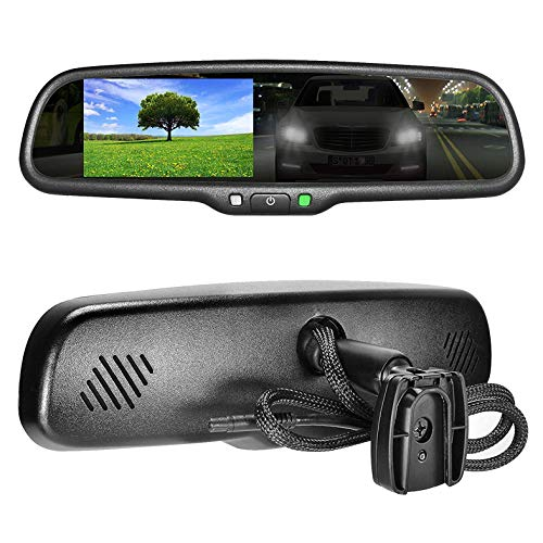 Master Tailgaters OEM Rear View Mirror with 4.3' Auto Adjusting Ultra Bright LCD + Auto Dimming Mirror - Universal Fit