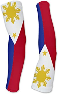 Philippines Flag Compression Arm Sleeves UV Protection Unisex - Walking - Cycling - Running - Golf - Baseball - Basketball